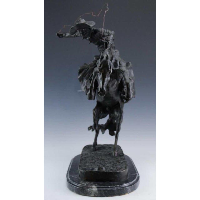 After Frederic Remington, Bronco Buster For Sale In West Palm - Image 6 of 8