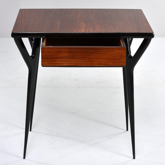 Wood Small Mid Century Italian Desk For Sale - Image 7 of 12