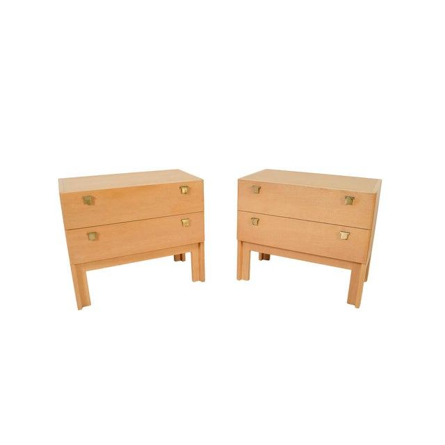 1960s Danish Modern HG Furniture Hansen Guldborg Oak Nightstands - a Pair For Sale - Image 9 of 9