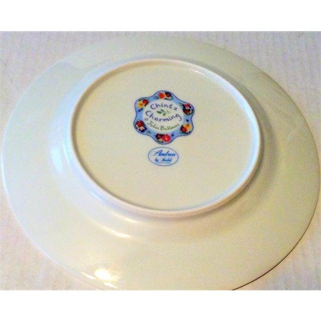 2000 - 2009 Set of 4 Vintage Floral Chintz Plates For Sale - Image 5 of 6
