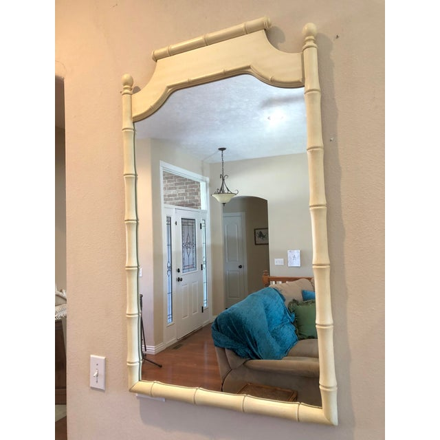 Vintage Faux Bamboo Mirror For Sale - Image 4 of 5