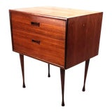 Image of 1960s Danish Modern Two Drawer Teak Table For Sale