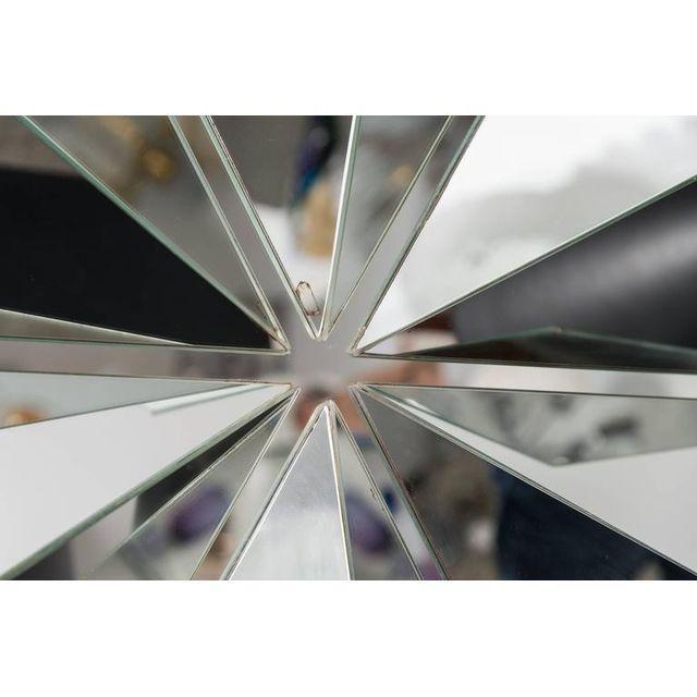 Polished Chrome Polygon Shaped Wall Mirror For Sale - Image 4 of 10