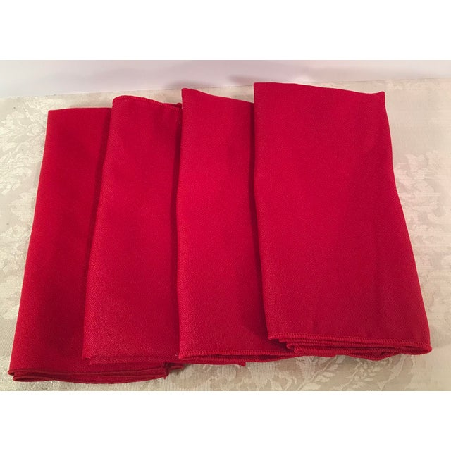 Nice vintage set of Red napkins. On has a very small pull - see picture. No tags.