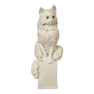 Italian Ceramic Seated Cat For Sale
