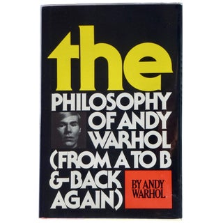 1970s Vintage Andy Warhol's Philosophy of Andy Warhol Signed Book For Sale