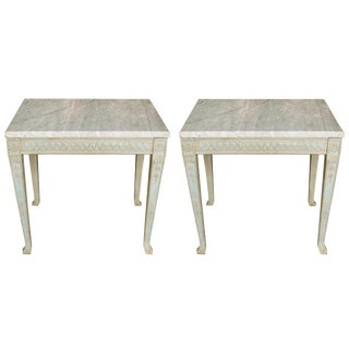 Pair of Italian Painted Side Tables For Sale