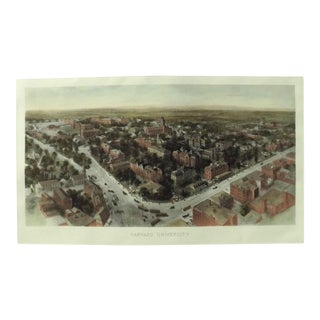 Early 20th Century Antique Harvard University Print For Sale