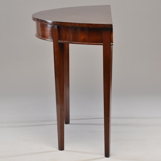 1910s English Mahogany Demi Lune Tables - a Pair For Sale - Image 5 of 13