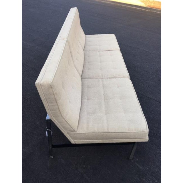 "Florence Knoll ""Parallel Bar"" Armless Sofa For Sale In Los Angeles - Image 6 of 8"
