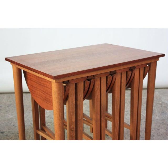 Set of Teak Serving Tables after Bertha Schaefer For Sale - Image 4 of 10