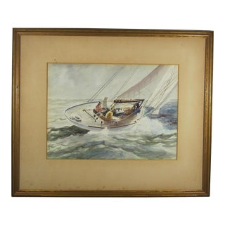 """Sailing"" Watercolor by John Abernathy For Sale"