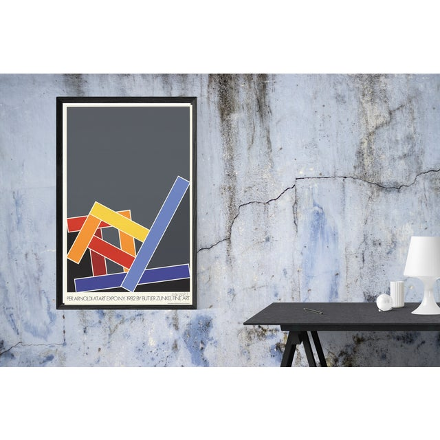 Modern 1982 Per Arnoldi Yellow Chair/Red Chair/Blue Chair- Serigraph For Sale - Image 3 of 3
