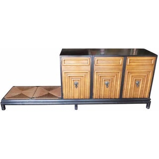 Renzo Rutili for Johnson Storage Cabinet & Bench For Sale