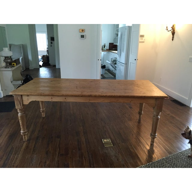 Antique French Harvest Table - Image 2 of 5