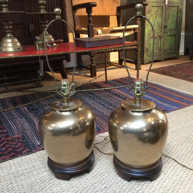 Brass Frederick Cooper Brass Lamps - A Pair For Sale - Image 7 of 7