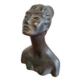Female Bucchero Bust by Carlo Alberto Rossi (C.1940s) For Sale