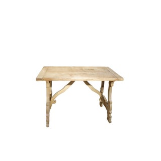 20th Century Italian Tuscan Refectory Style Cherry Farmhouse Table For Sale