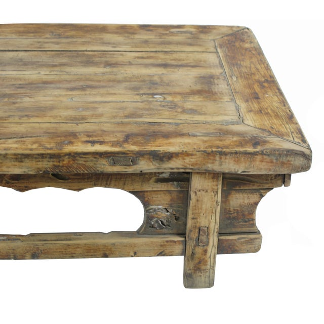 Chinese Low Rustic Accent Table For Sale - Image 3 of 5
