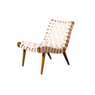 Leather Woven Chair For Sale