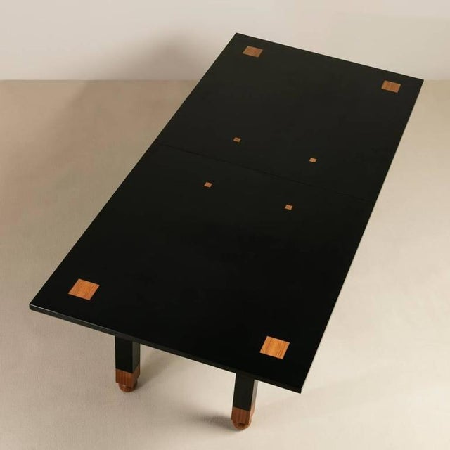 Saporiti Designed Extendable Lacquered Wood Dining Table, 1980s - Image 2 of 6