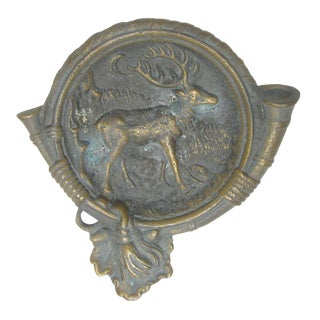 Bronze Hunting Stag Dish For Sale