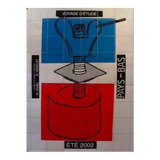 2002 Contemporary Poster - Ecole De Design - Voyage d'Etudes Pays Bas - Alfred Halasa For Sale