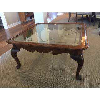 Ethan Allen Canterbury Oak & Glass Coffee Table Preview