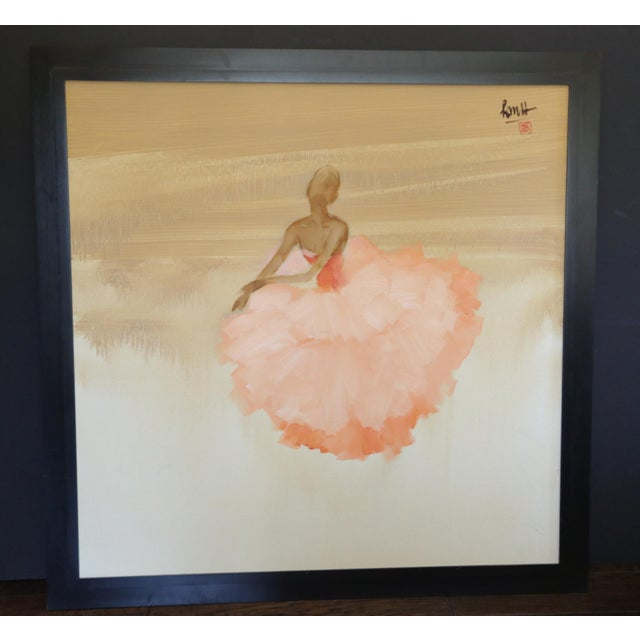 """Ballerina Pink"" Oil on Canvas - Image 2 of 4"