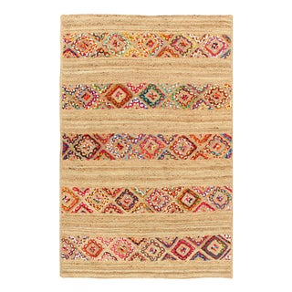 Pasargad Handmade Braided Cotton & Organic Jute Rug - 4' X 6' For Sale