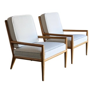 Mid-Century Modern t.h. Robsjohn-Gibbings Widdicomb Lounge Chairs - a Pair For Sale