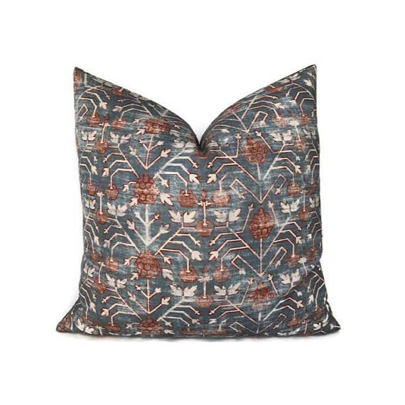 Not Yet Made - Made To Order Patterned Zak & Fox Khotan Pillow Cover For Sale - Image 5 of 5