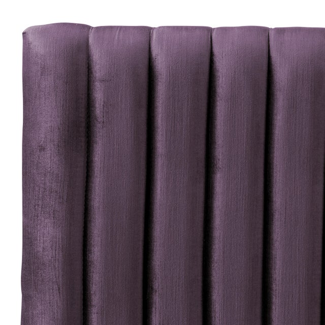 Spritely Home Twin Channel Headboard in Majestic Plum For Sale - Image 4 of 6