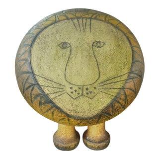 1960s Vintage Lisa Larson Ceramic Lion Sculpture For Sale