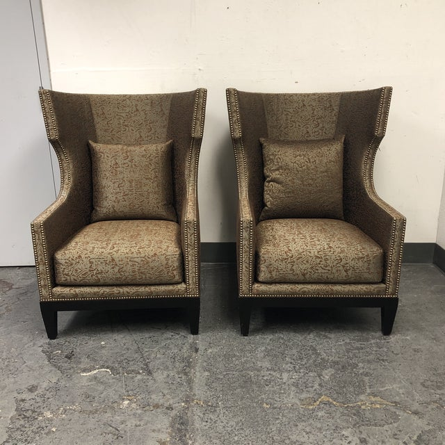 Ironies Tule Lounge Chairs- a Pair For Sale - Image 13 of 13