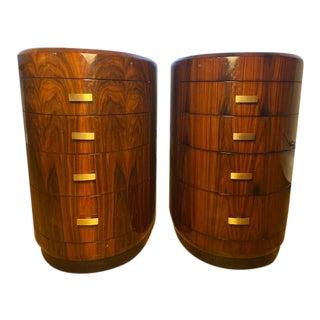 Jonathan Charles Art Deco Macassar Dresser - a Pair For Sale