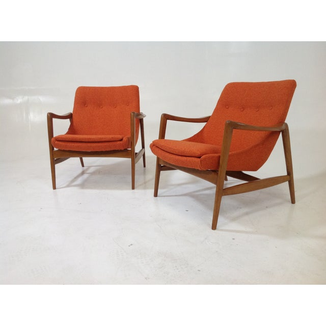 Mid Century Modern Lounge Chairs - 2 For Sale - Image 7 of 7