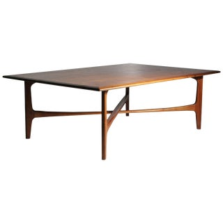 Danish Modern Dux Folke Ohlsson Coffee Table With X-Stretcher For Sale