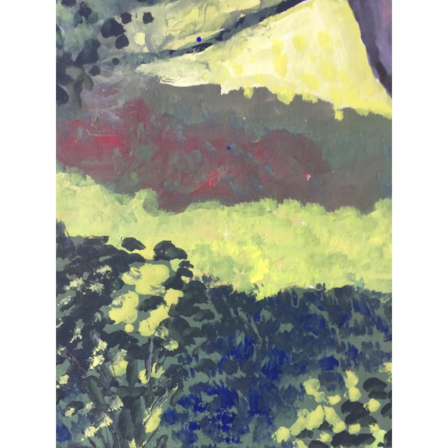 """Gloria Dudfield (1922-2015) Untitled c.1960s Gouache on paper 18""""x15"""" unframed Unsigned Came from a portfolio of her work..."""