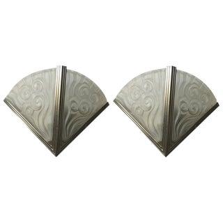 Degue French Art Deco Sconces - A Pair For Sale