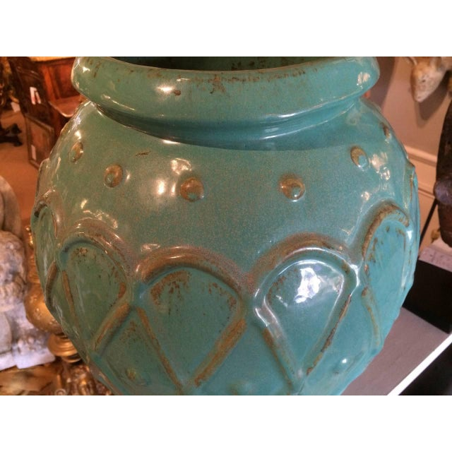Turquoise Glaze Jar by Galloway For Sale In New York - Image 6 of 9