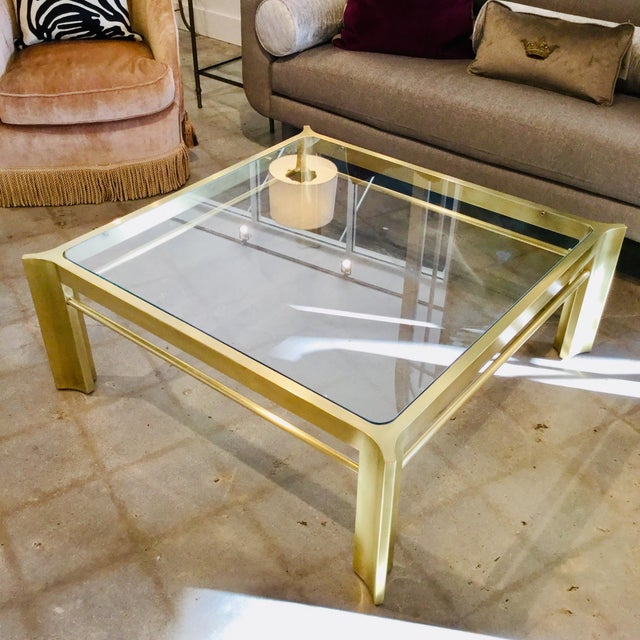 Mid-Century Modern Square Mastercraft Coffee Table For Sale In Dallas - Image 6 of 7