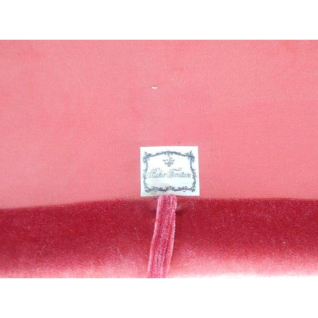 Baker Furniture Co. Red Crushed Velvet Sofa - Image 8 of 8