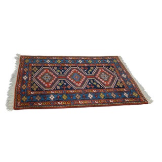 Quality Hand Tied Caucasian Rug - 3′7″ × 5′6″ For Sale