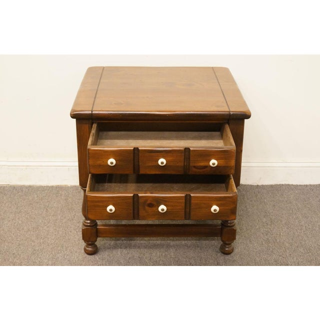 Late 20th Century Late 20th Century Vintage Ethan Allen Pine Nightstand For Sale - Image 5 of 13