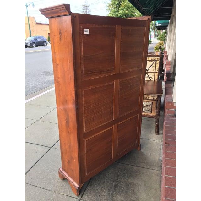 Large Solid Walnut Bookcase - Image 5 of 6