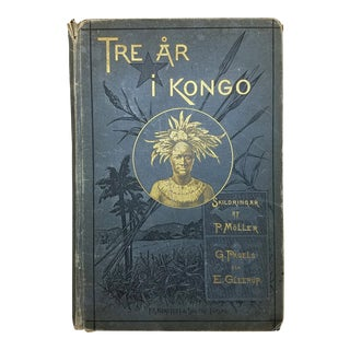 Antique African Kongo Book in Swedish For Sale