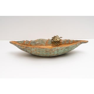 1950s Carved Wood Seashell Form Serving Dish by Aldo Tura for Macabo Cusano Preview