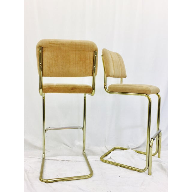 Mid-Century Modern Vintage Mid-Century Modern Bar Stools - A Pair For Sale - Image 3 of 7