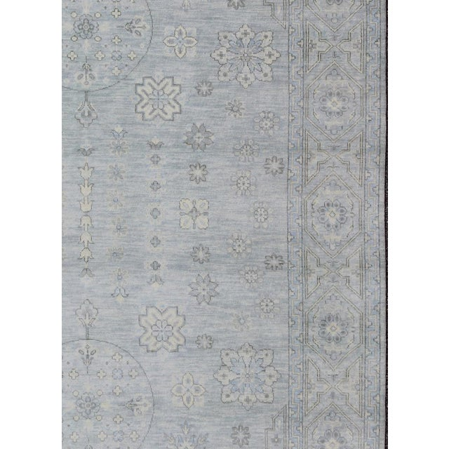 Indian Khotan Rug - 8′11″ × 11′11″ For Sale - Image 4 of 6